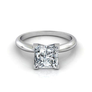 Sparkling Princess Cut Prong Set 2.90 Ct Diamond Wedding Ring Solitaire Solitaire Ring