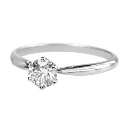 Sparkling Prong Set 1 Carat F Vs1 Diamond Ring White Gold 14K Ring