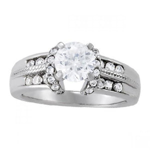 Sparkling Prong Set Diamonds Engagement Fancy Ring Solid Gold 14K 1.75 Ct. Engagement Ring