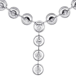 Sparkling Round Brilliant Cut 2 Ct Diamonds Lady Necklace White Gold Necklace