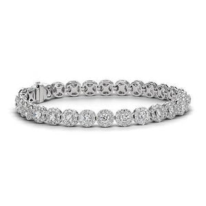 Sparkling Round Cut Diamond Tennis Bracelet White Gold 5 Ct Jewelry Tennis Bracelet