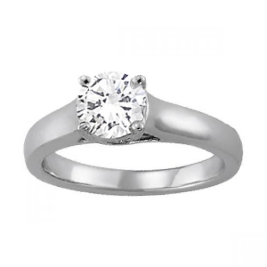 Sparkling Round Diamond 1.5 Carat F Vs1 Solitaire Engagement Ring Gold 14K Solitaire Ring