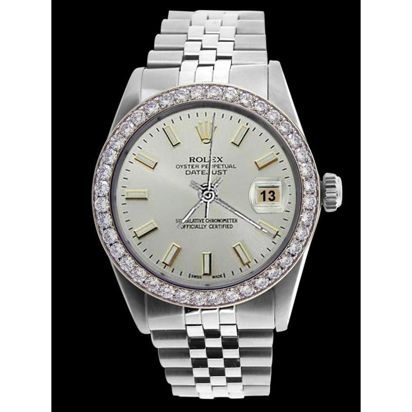 Ss Rolex Jubilee Bracelet White Stick Dial Datejust Men Watch Rolex