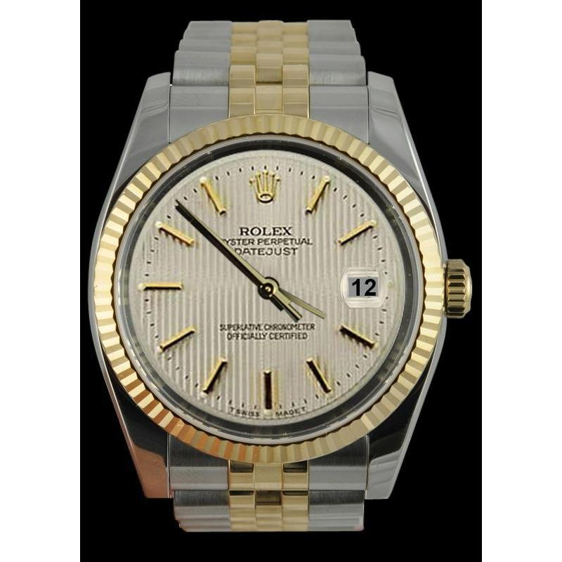 Ss & Yellow Gold Jubilee Men Watch White Stick Dial Rolex Rolex