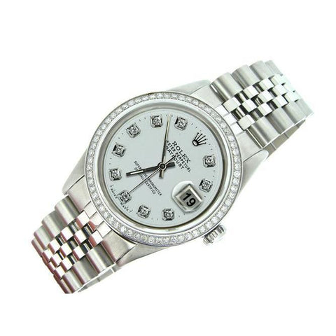 Stainless Steel Bracelet Rolex Datejust Men Watch Diamond Bezel Rolex
