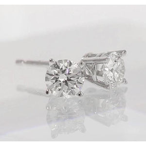 Stud Diamond Earrings 2 Carats Stud Earrings