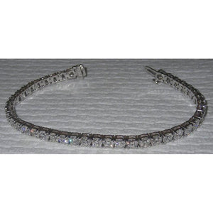 Tennis Bracelet 14 Carat Diamonds Sparkling White Gold Tennis Bracelet