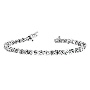 Tennis Bracelet 21.78 Round Diamond F/G Vs2/Si1 33 Stones White Gold 14K Tennis Bracelet