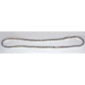 Tennis Necklace 32.00 Carats Sparkling Diamonds 14K White Gold New Necklace