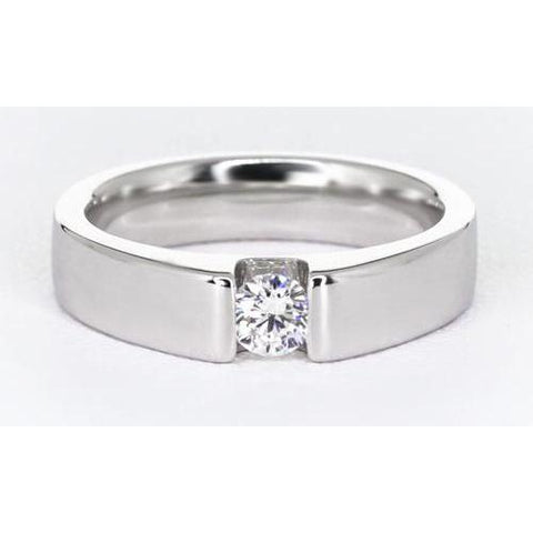Tension Set Diamond Men'S Ring Mens Ring
