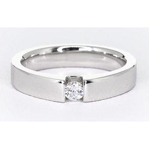 Tension Set Round Diamond Promise Men'S Ring 0.50 Carats Jewelry Mens Ring