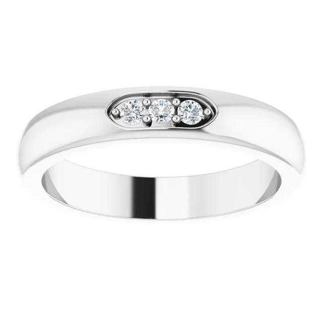 Three-Stone Diamond Men'S Ring 0.50 Carats White Gold Jewelry New Mens Ring