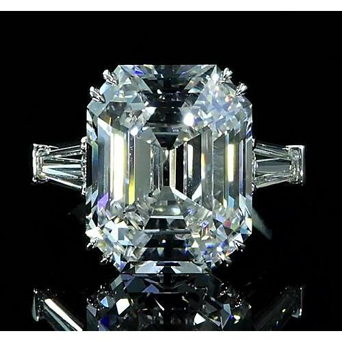 Three-Stone Diamond Ring 6.70 Carats Double Claw Prong Setting New Three Stone Ring