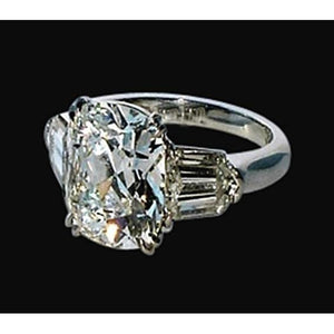 Three Stone Women Anniversary Ring  Diamond White Gold Jewelry 1.65 Carat Three Stone Ring