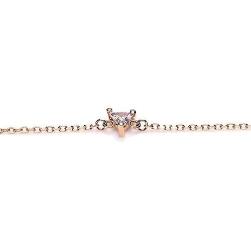 Trilliant Shape Bracelet 1 Carat Center Stone Yellow Gold Jewelry Tennis Bracelet