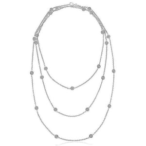 "Triple Chain 16""/18""/20"" Yard Of 8.75 Ct Diamonds Necklace Chains Necklace"