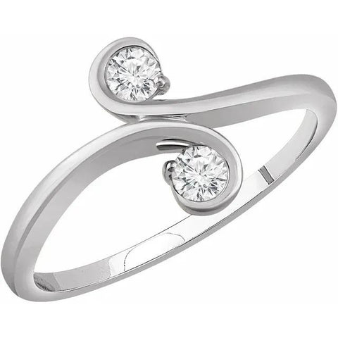 Two-Stone Diamond Engagement Ring 1 Carat Engagement Ring