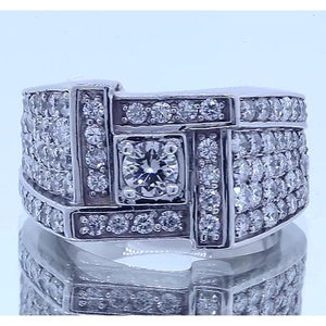 Vintage Look Men'S Ring Round Diamond Jewelry 3 Carats Mens Ring