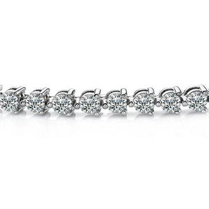 White Gold 14K 3 Prong Set 7.00 Carats Diamonds Lady Tennis Bracelet New Tennis Bracelet