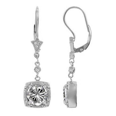 White Gold 14K 5.00 Ct Round Cut Diamonds Ladies Dangle Earrings Dangle Earrings