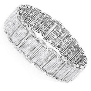 White Gold 14K 8.50 Carats Round Cut Sparkling Diamonds Men'S Ring Mens Ring