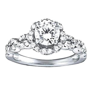 White Gold 14K  Approx. 1.60 Carat Diamond Ring Si1-Si2 Ring