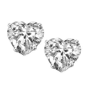 White Gold 14K Heart Cut Diamond 3 Carats Stud Women Earrings Fine Jewelry Stud Earrings