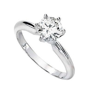 White Gold 14K Jewelry New Round Cut 1.25 Carat Diamond Ring E Vvs1 Ring