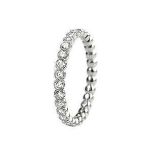 White Gold 14K Jewelry Round 4.00 Carats Diamond Engagement Band Ring Eternity Band