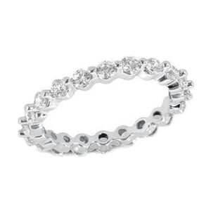 White Gold 14K Jewelry Round Cut 3.60 Carat Diamond Engagement Band Ring Eternity Band