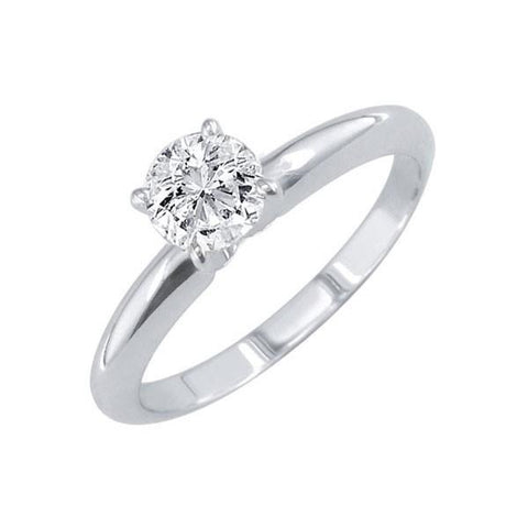White Gold 14K Jewelry Round Solitaire 0.75 Carat New Diamond Ring Solitaire Ring