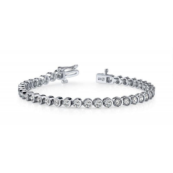 White Gold 14K Prong Diamonds Basic Tennis Bracelet 10 Carats Tennis Bracelet
