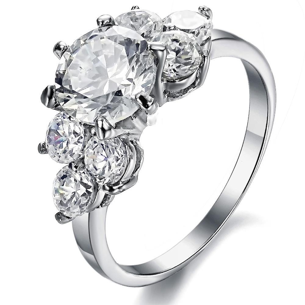 Round Diamond Engagement Ring 3 80 Ct Basket Setting White Gold 14k Harrychadent Com