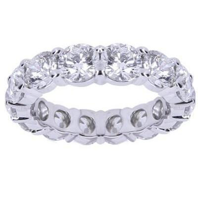 White Gold 14K Round 4.00 Carats Diamond Engagement Band Ring Eternity Band