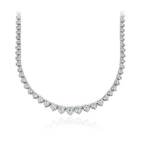 White Gold 14K  Round Cut Sparkling 20.00 Ct Diamond Women Necklace Necklace