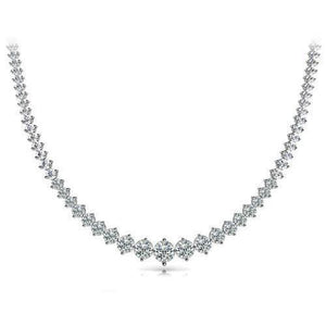 White Gold 14K Small Round Cut  24.00 Ct Diamonds Ladies Necklace Necklace