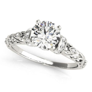 White Gold 14K Sparkling 3.00 Carats Diamonds Antique Look Ring New Engagement Ring