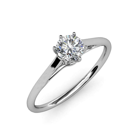White Gold 1.75 Carats Prong Set Solitaire Diamond Anniversary Ring Solitaire Ring