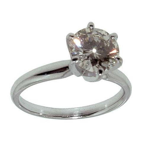White Gold 18K F  Vvs1 1.01 Carats Diamond Ring Ring