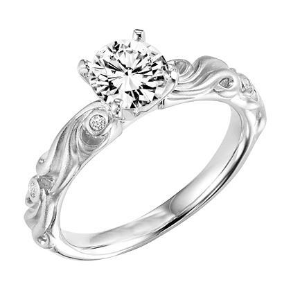 White Gold Engagement Ring 2.50 Ct Round Brilliant Cut Diamonds Engagement Ring