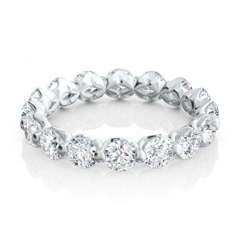 White Gold Jewelry Round Cut 3.00 Carats Diamond Engagement Band Ring Eternity Band
