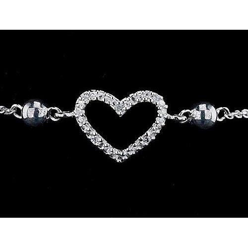 Women Bracelet Diamond Heart Shaped 2 Carats Jewelry Tennis Bracelet