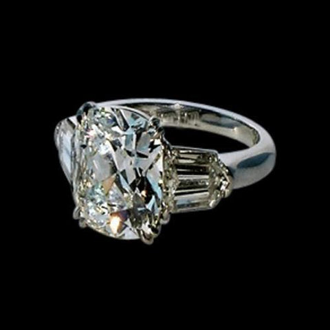 Women Cushion & Baguette Diamonds Ring 1.91 Ct. White Gold Ring