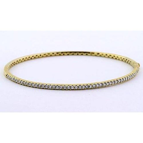 Women Diamond Bangle 5 Carats Yellow Gold 14K Jewelry New Bangle