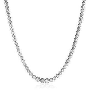 Women Necklace White Gold 14K 10.00 Ct Round Cut Sparkling Diamonds Necklace