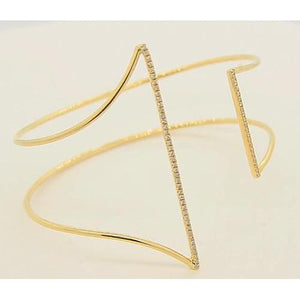 Yellow Gold Bangle 1.50 Carats Women Jewelry New Bangle