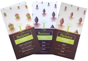 Balance Stevia Chocolate collection