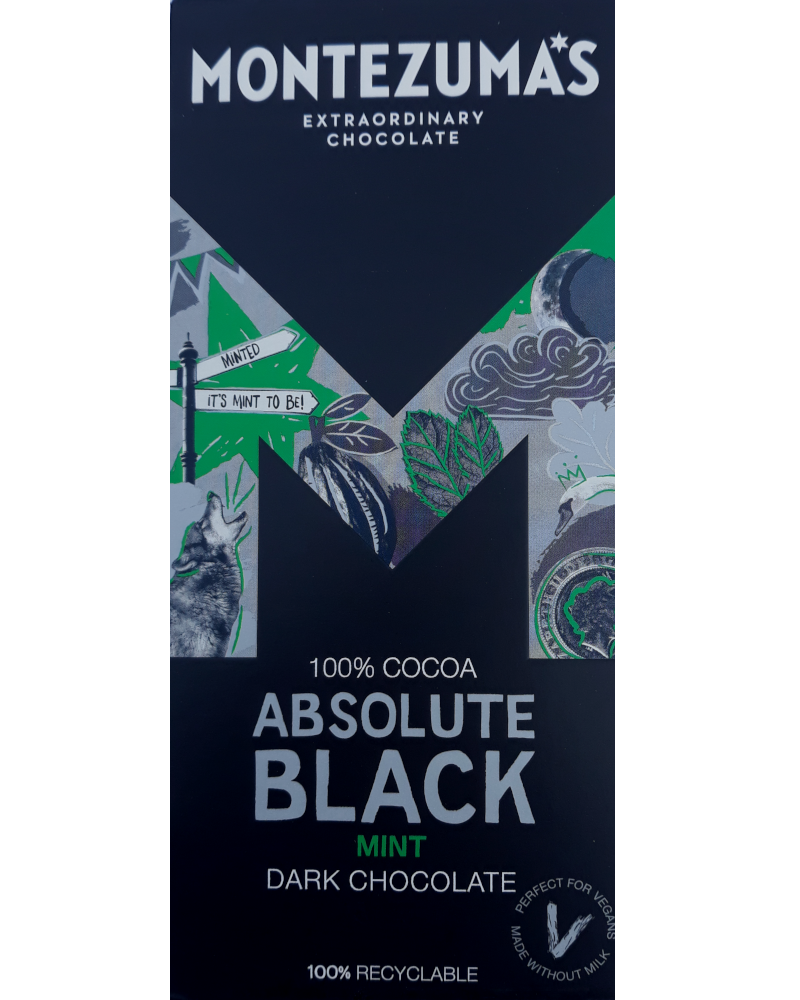 Absolute Black: 100% Cocoa Bar with Mint (NAS)
