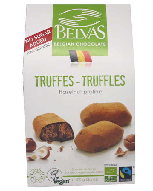 Belvas's Praline Truffles Cocoa Dusted (No added sugar, Vegan)