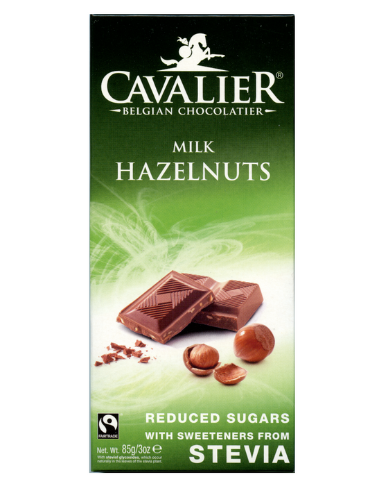 Cavalier  Stevia  Milk with Hazelnuts Chocolate (no added Sugar)